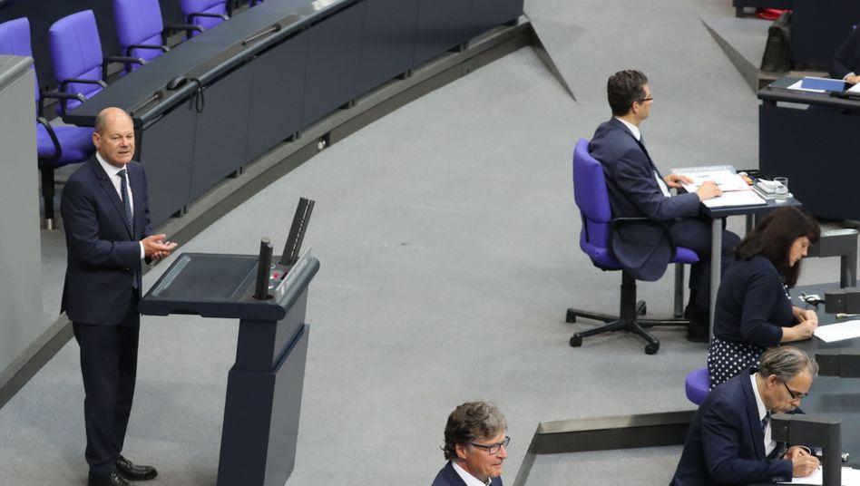 Vizekanzler Olaf Scholz (SPD) warb am Donnerstag für das neue Konjunkturpaket.