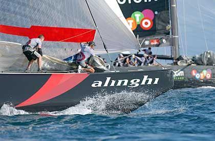 Sieben Sekunden zum Sieg: Alinghi-Boot vor Neuseeland