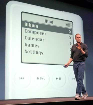 Schwach auf der Brust: iPod der ersten Generation