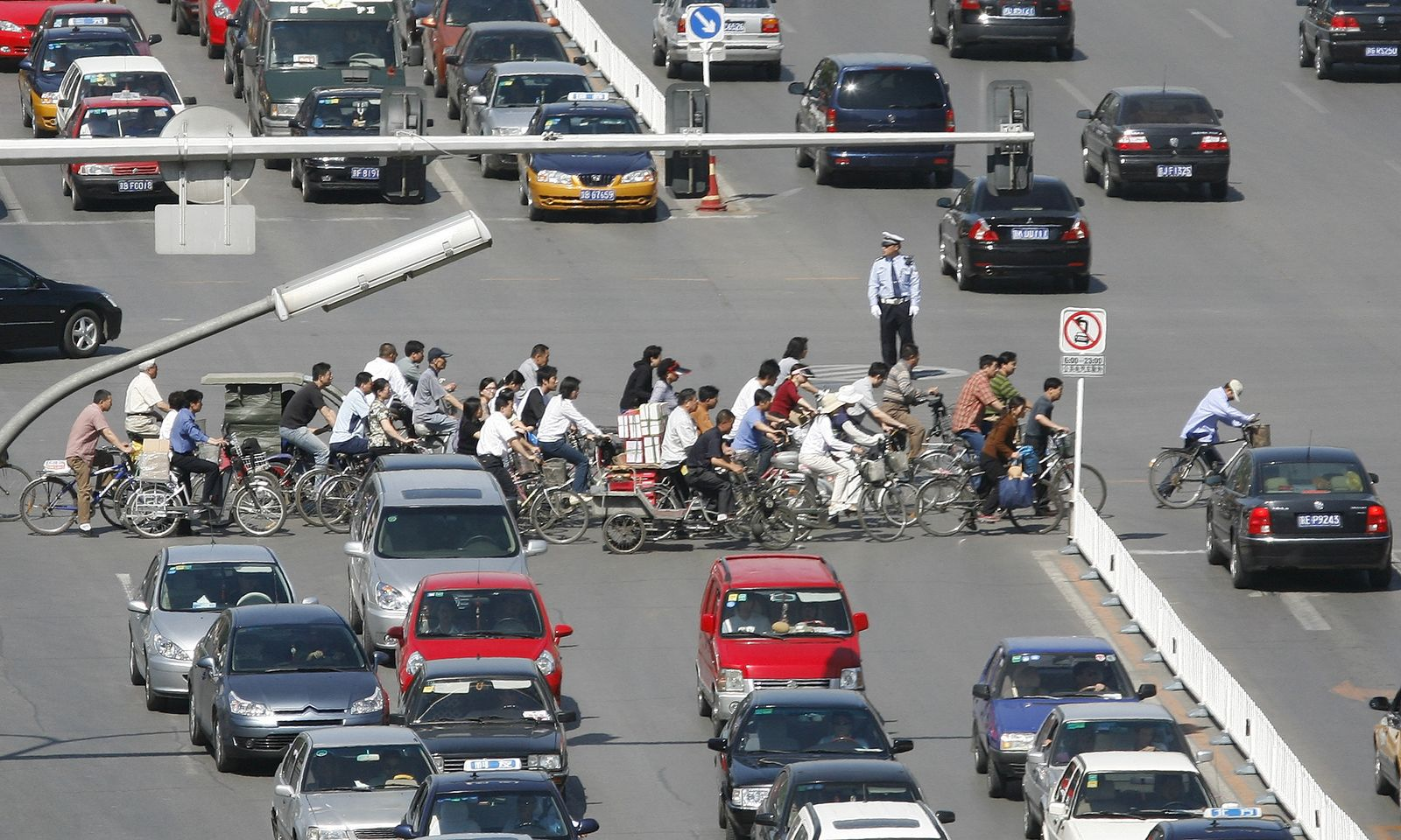 China / Peking / Fahrräder / Verkehr