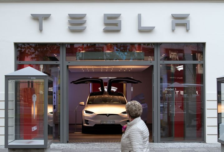 Tesla in Berliner Showroom (Bild von November 2019)