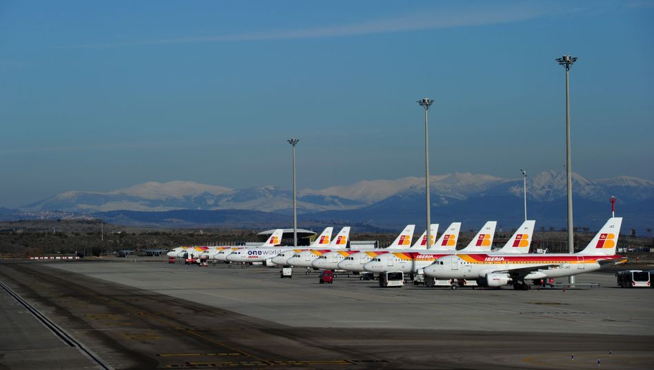 Am Boden: Ein Streik zwingt Iberia, Flüge zu streichen