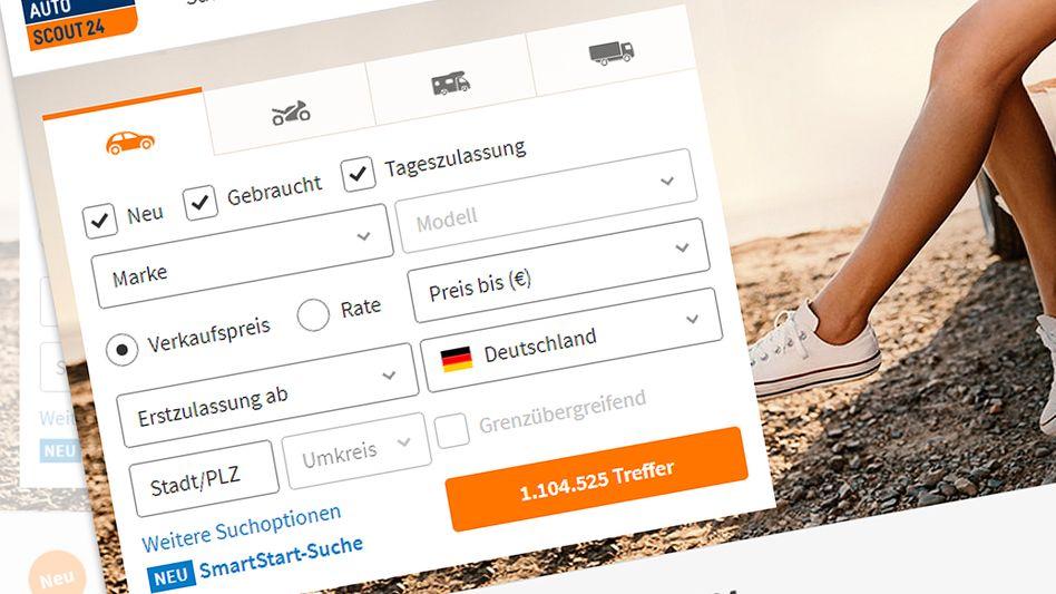 Screenshot von Autoscout24.de