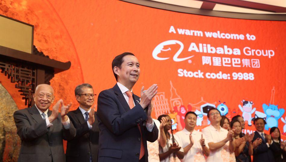 Alibabas Chairman and Chief Executive Officer Daniel Zhang: Der Internethändler nahm insgesamt 11,3 Milliarden Dollar ein
