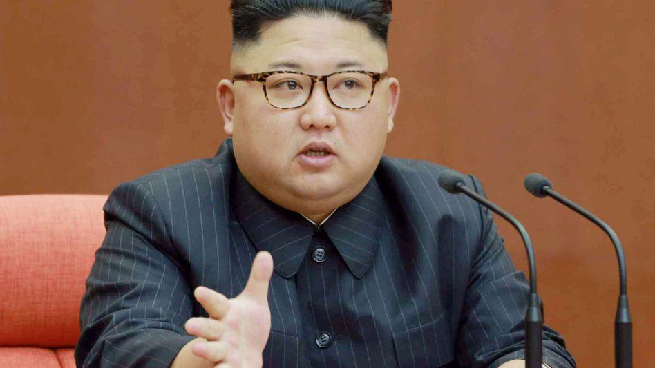 Verärgert, aber gut im Haar: Kim Jong Un