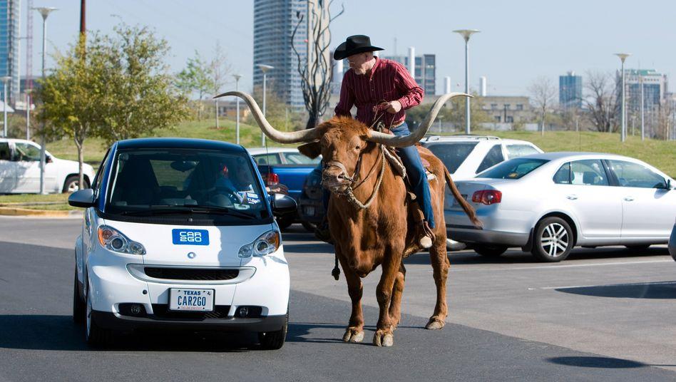 Daimlers Carsharing-Angebot Car2go (in den USA, Archivbild 2009): Car2go zog sich aus Los Angeles zurück und will nun vor allem in China wachsen.