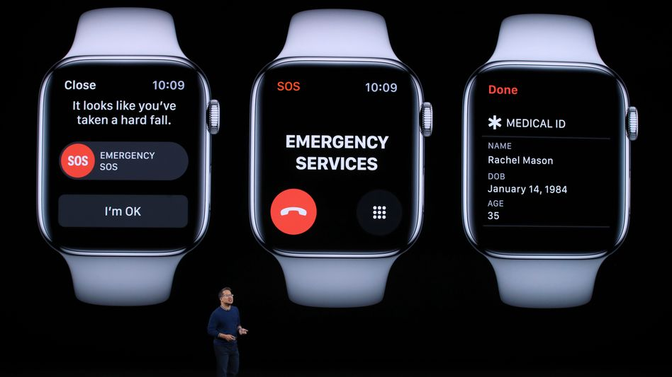 Healthtech: Der US-Konzern Apple baut immer mehr Gesundheits-Features in seine Uhren ein.