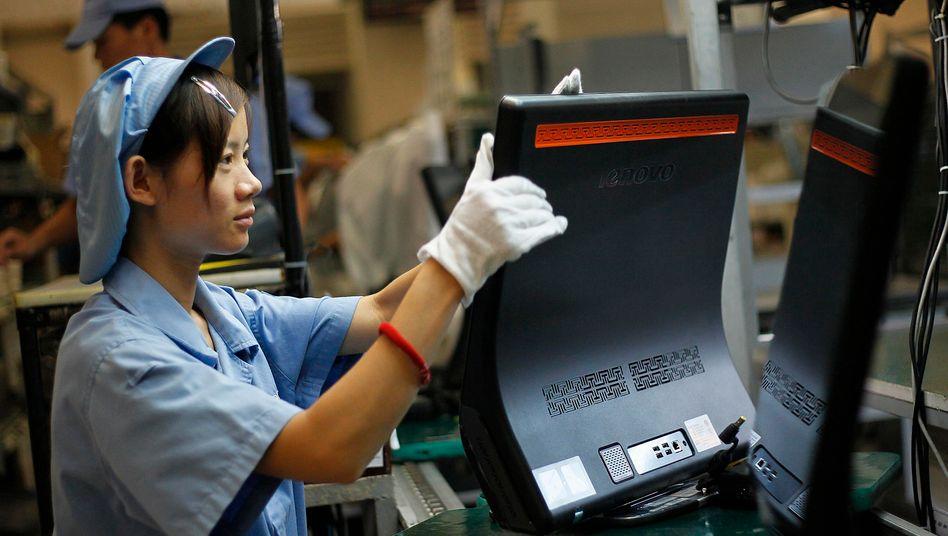 Lenovo-Produktion in Shanghai: Der Computerbauer konnte seinen Marktanteil auf 13,5 Prozent ausbauen