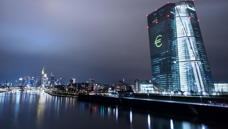 """EZB-Tower in Frankfurt: Mit den Ergebnissen des SREP-Testes """"weitgehend zufrieden"""""""