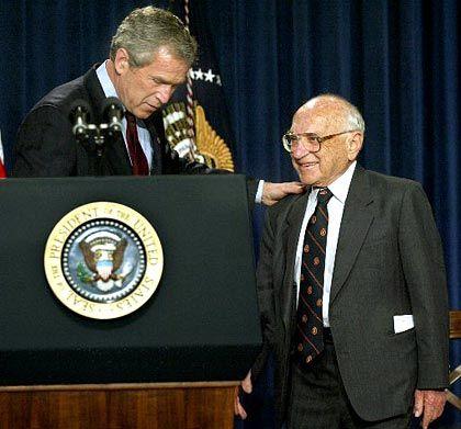 George Bush: Ehre für Milton Friedman