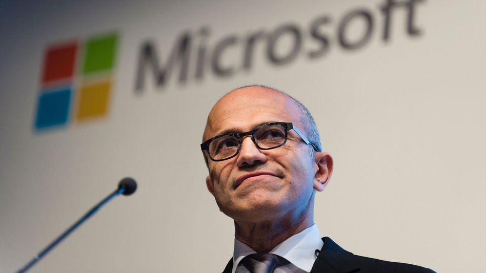 Schwergewicht: Microsoft (mit CEO Satya Nadella) ist an der Börse mehr als 2 Billionen Dollar wert