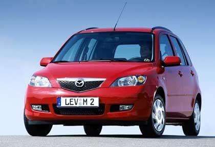 Fast schon ein Van: Mazda 2, hier noch das alte Modell
