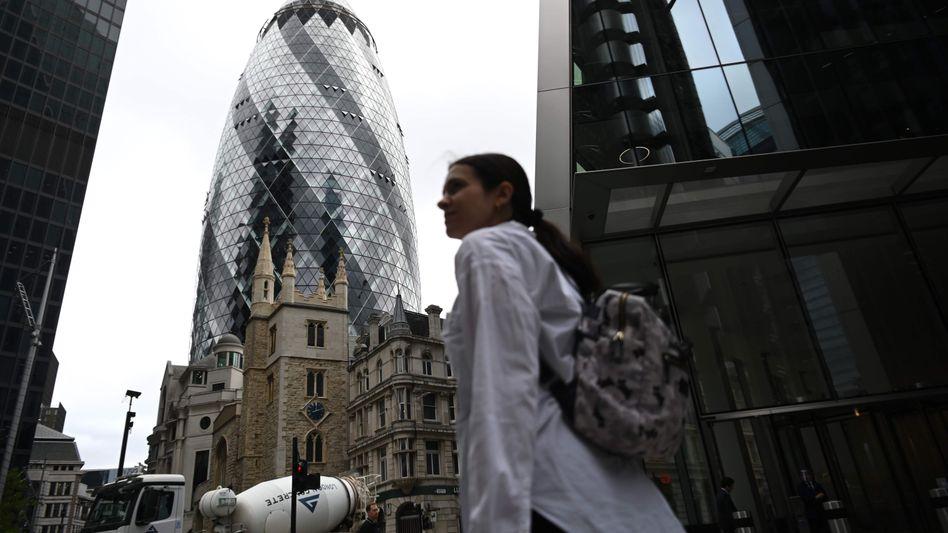 Passantin in der City of London