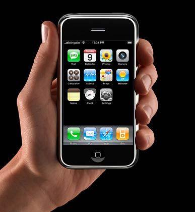 Hoffnungsträger: Das iPhone von Apple