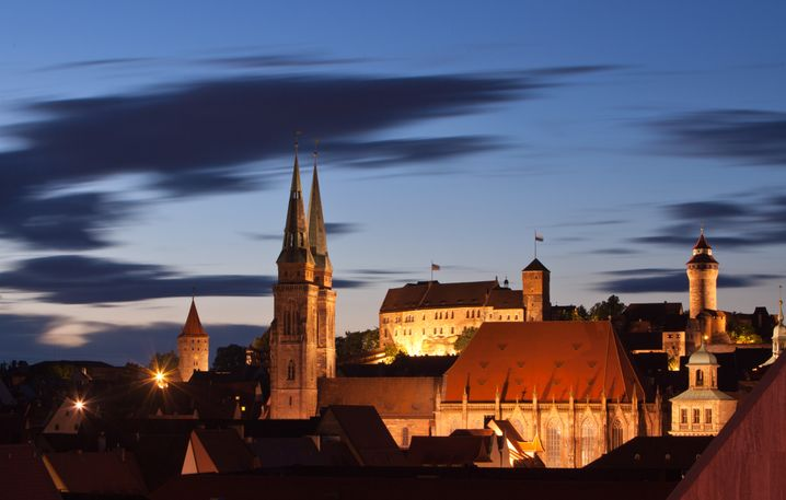 Blick auf die Nürnberger Altstadt