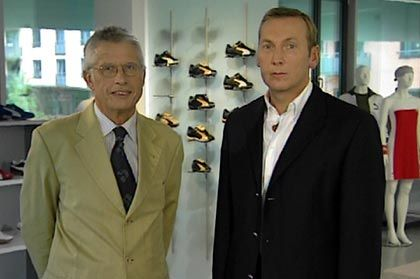Puma-Chef Jochen Zeitz mit manager-magazin-TV-Moderator Wolfgang Kaden