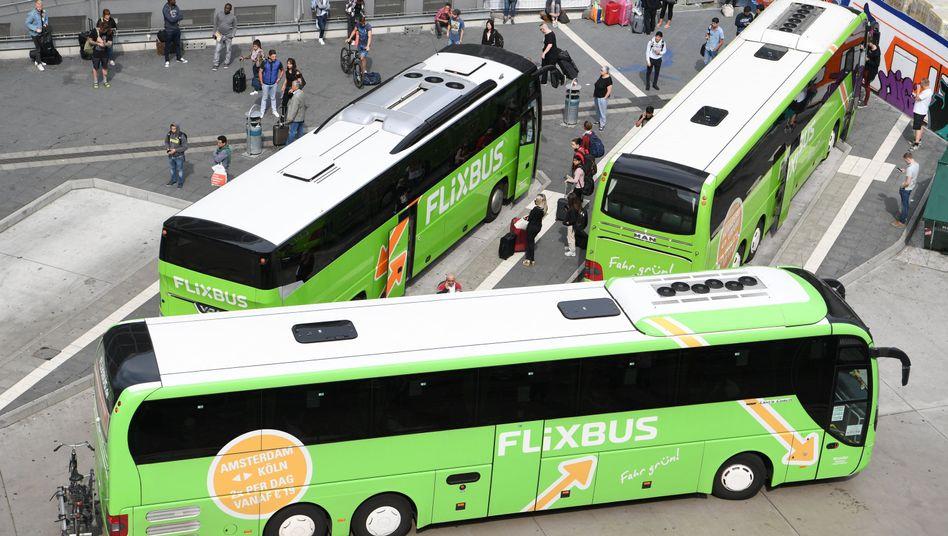 Fernbusse von Flixbus
