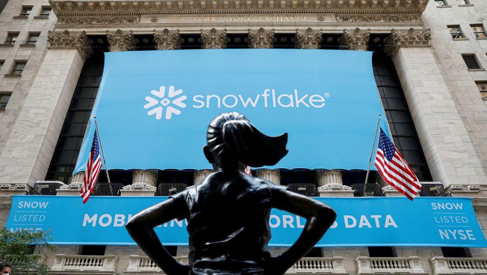 Größter US-Börsengang des Jahres 2020: Die Softwarefirma Snowflake hat bei ihrem Börsengang im September 2020 rund 3,36 Milliarden Dollar erlöst