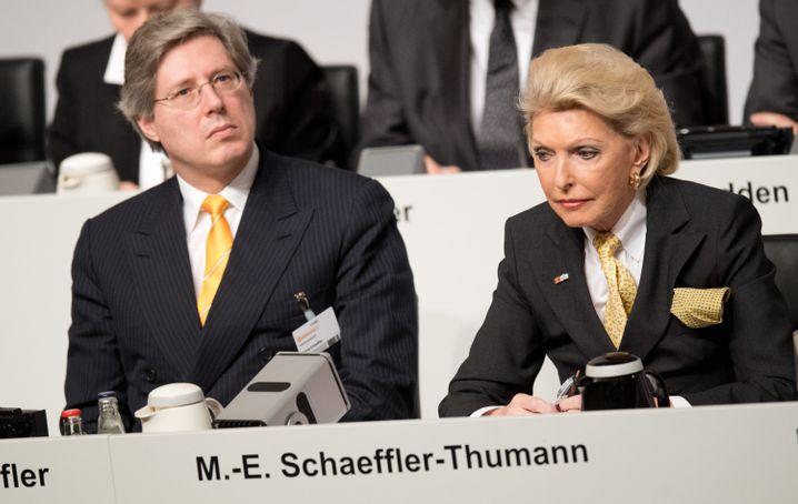 Georg F. W. Schaeffler und Maria-Elisabeth Schaeffler-Thumann: Mutter und Sohn bangen ums Erbe.