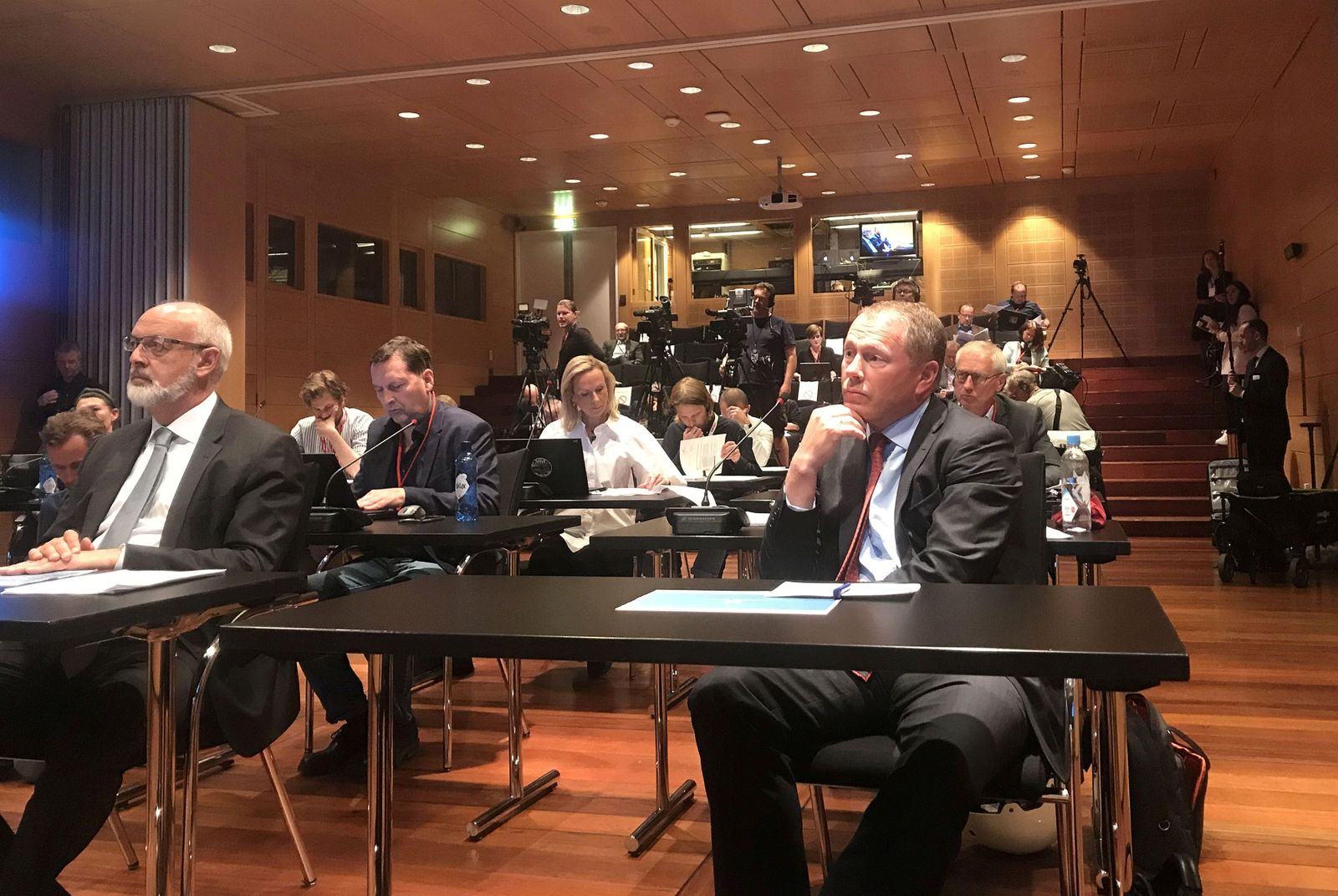 FILE PHOTO: Norwegian sovereign wealth fund CEO Tangen attends a news conference in Oslo