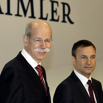 Das Beste draus machen: Daimler-Chef Zetsche (li.) und Finanzvorstand Uebber