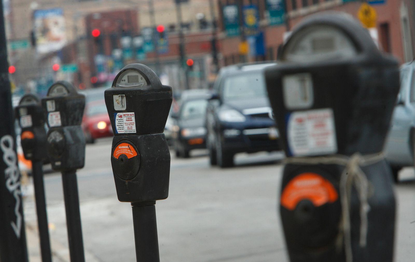NICHT MEHR VERWENDEN! - Parkuhr / Autos / Chicago / Straßenverkehr