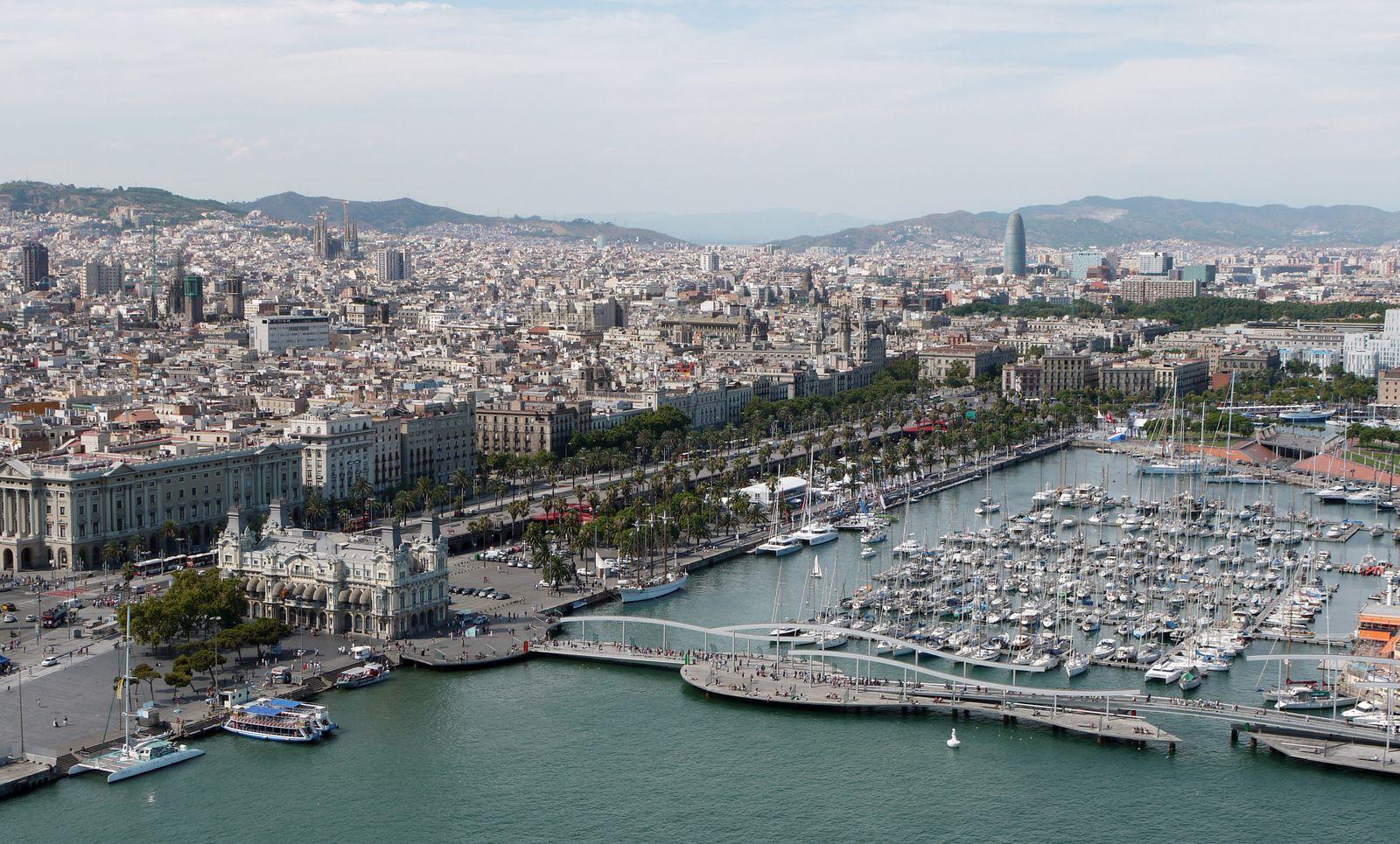 Hafenbecken von Barcelona