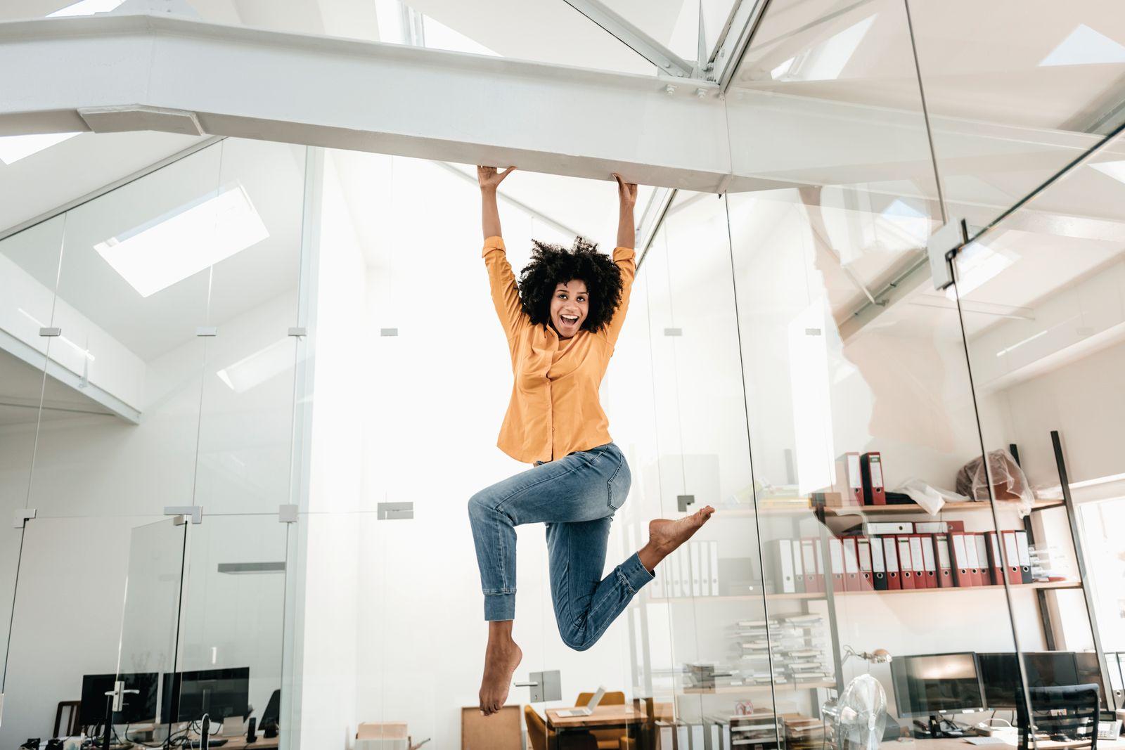 EINMALIGE VERWENDUNG Spaß bei der Arbeit / Büro
