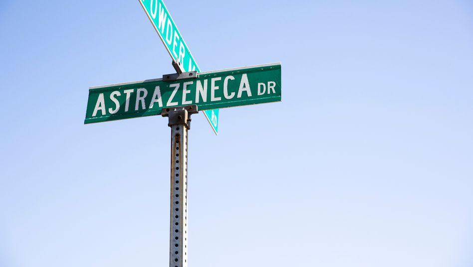 Schlechte Adresse: Straßenschild vor dem US-Firmensitz von Astrazeneca in Wilmington (Delaware)