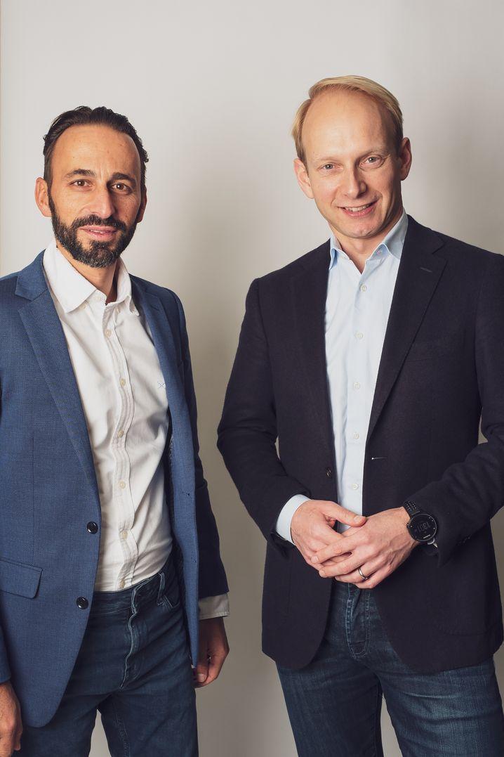 Patrick Schmidt (li.) und Christoph Barchewitz