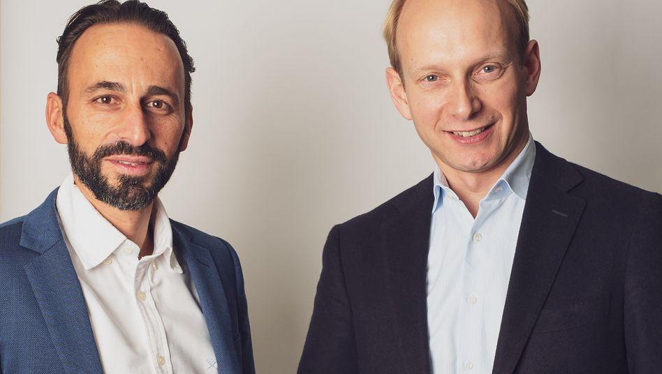 GFG-Chefs Patrick Schmidt (links), Christoph Barchewitz: GFG soll am 27. Juni an die Börse