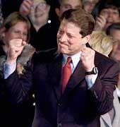 Al Gore feiert mit den Demokraten