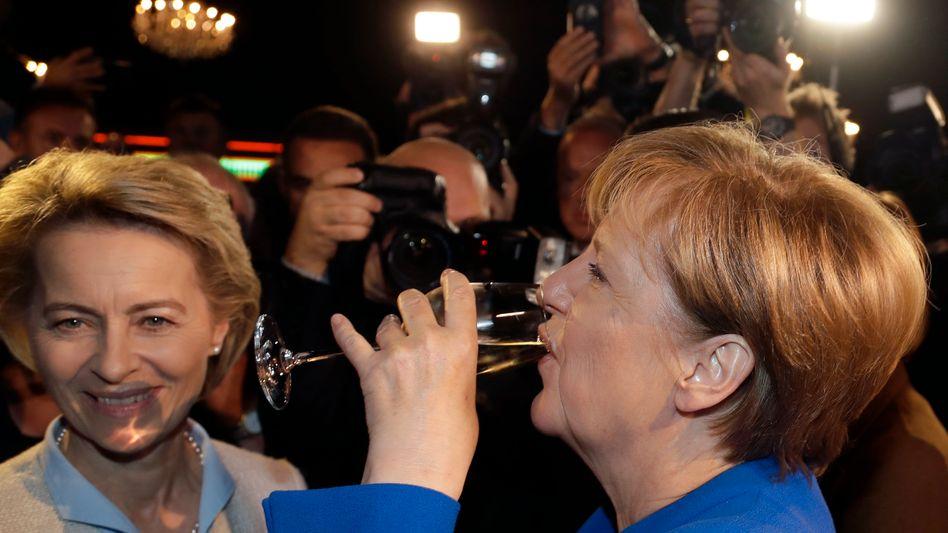 Ging doch: Angela Merkel nach dem TV-Duell.