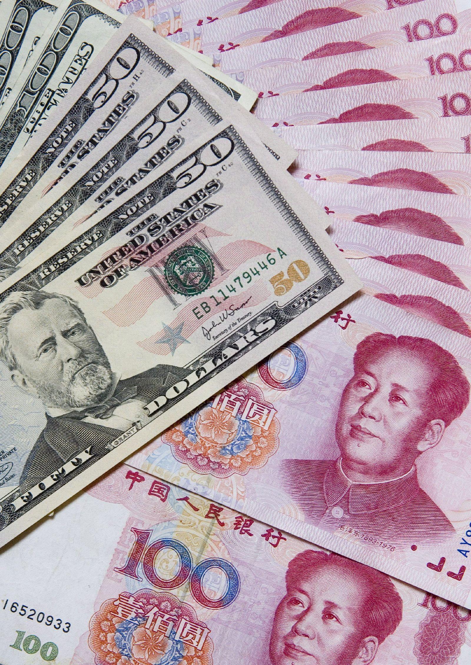 Chimerica / Banknoten / Yuan / Dollar