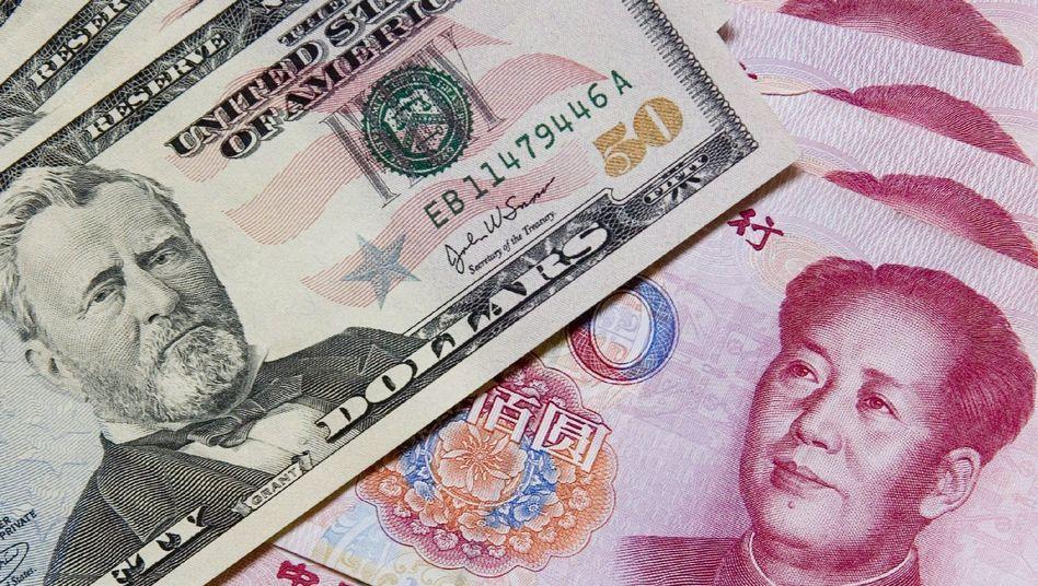 Welt im Ungleichgewicht: Die USA kaufen für mehr Waren und Dienstleistungen ein, als sie exportieren. China hat gegenüber den USA einen riesigen Überschuss in der Handelsbilanz