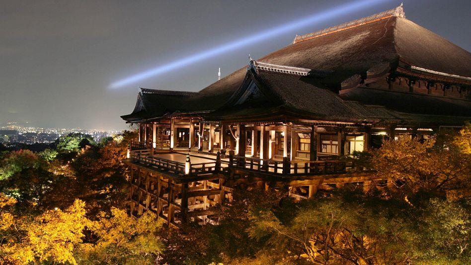 Tempel in der alten Kaiserstadt Kyoto: Den Tempelbauer Kongo Gumi hielt es 1429 Jahre lang im Markt