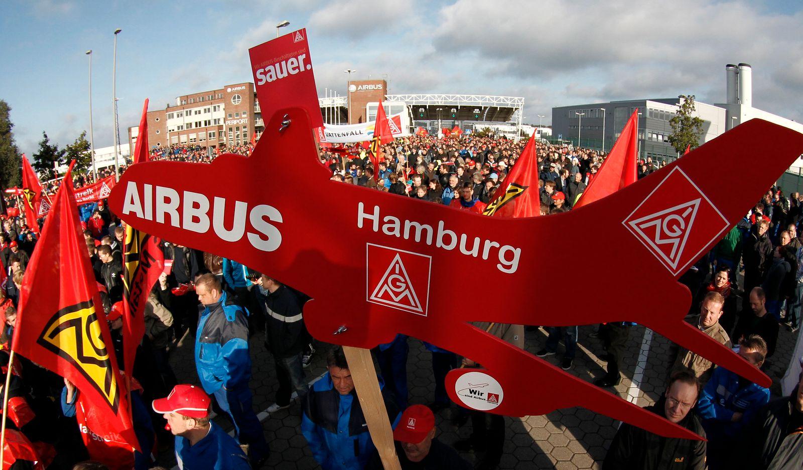 NICHT VERWENDEN IG Metall / Airbus Streik