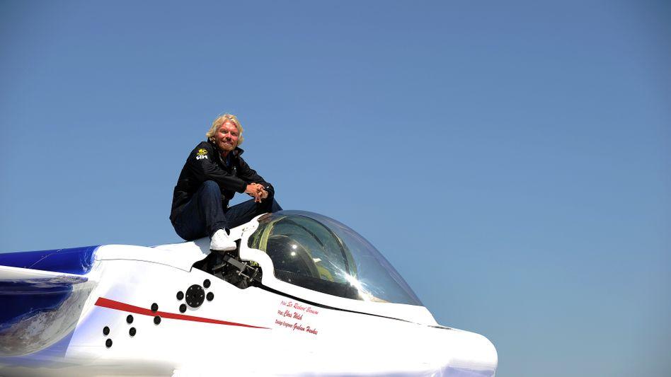 Das U-Boot, das wie ein Raumschiff aussieht: Branson hat bislang mit einem Weltraumprojekt von sich reden gemacht