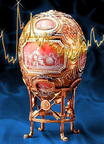 Fabergé-Osterei: Wenn die Märkte wackeln, setzen viele Anleger auf Gold