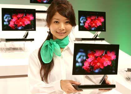 Mini-Fernseher: Der OLED-Bildschirm hat nur eine Bilddiagonale von 28 Zentimetern