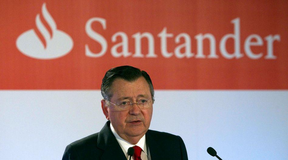 Bisheriger Santander-Chef Saenz: Straferlass aufgehoben