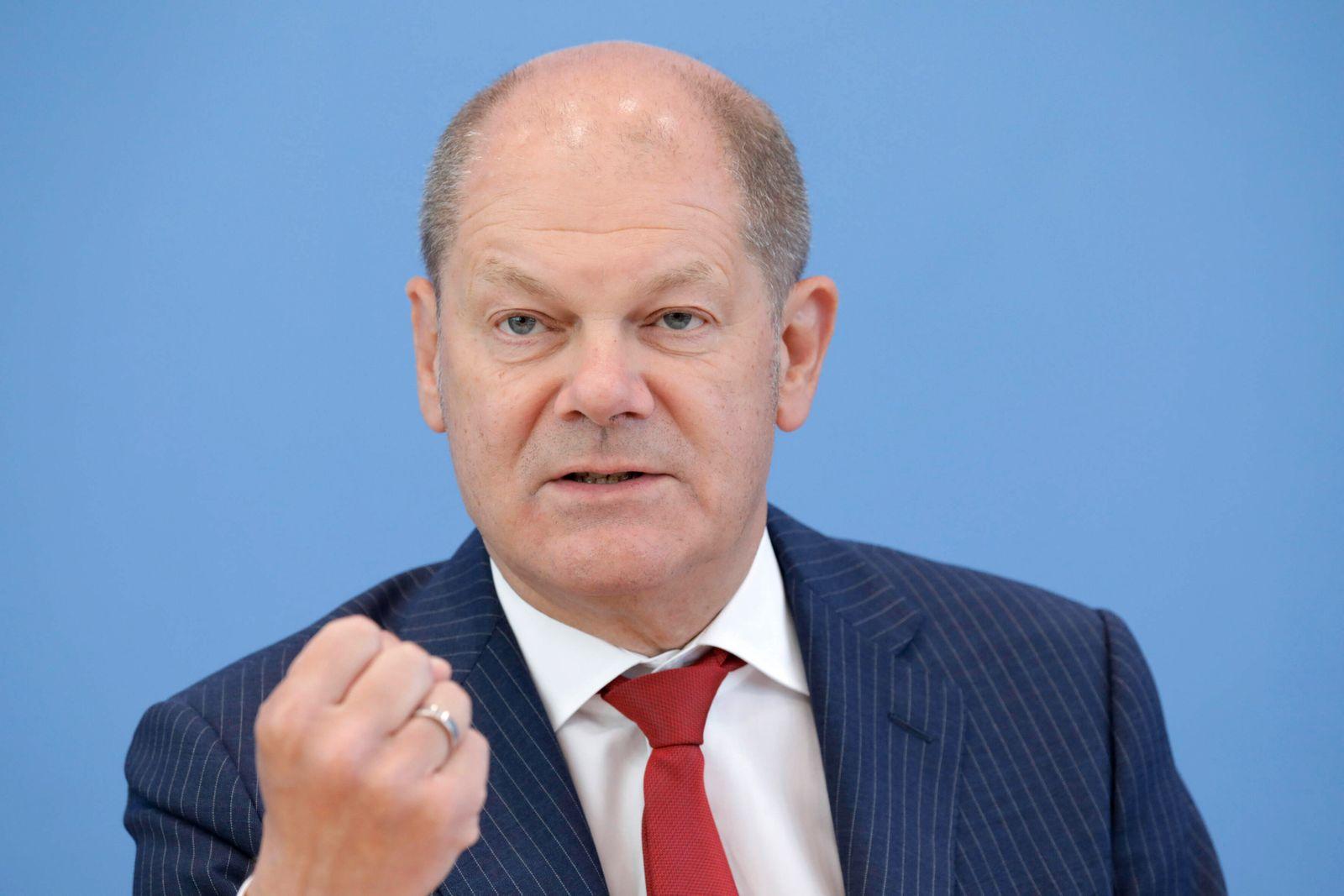 Olaf Scholz, Bundesminister der Finanzen, SPD, PK zu Nachtragshaushalt, DEU, Berlin, 17.06.2020 *** Olaf Scholz, Federa