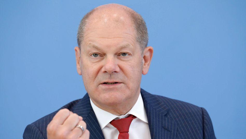 """""""Zählen zu denen, die sich nicht wegducken"""": Bundesfinanzminister Olaf Scholz gerät in der Causa Wirecard stärker unter Druck."""