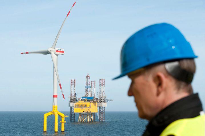 Offshore-Windpark Bard in der Nordsee: Die Anlagen produzieren viel weniger Strom als erwartet. Auch mit der Netzanbindung gibt es Probleme
