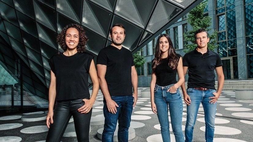 New Kids on the Block:Bauen sich einen eigenen Campus für künstliche Intelligenz in Berlin: Das Merantix-ManagementNicole Büttner, Rasmus Rothe, Janette WigetundAdrian Locher(v. l.)