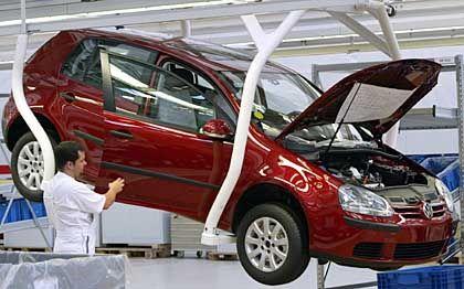 Golf-Produktion in Wolfsburg: Über 20.000 Arbeitsplätze wird beraten - nicht aber über den Konzernchef