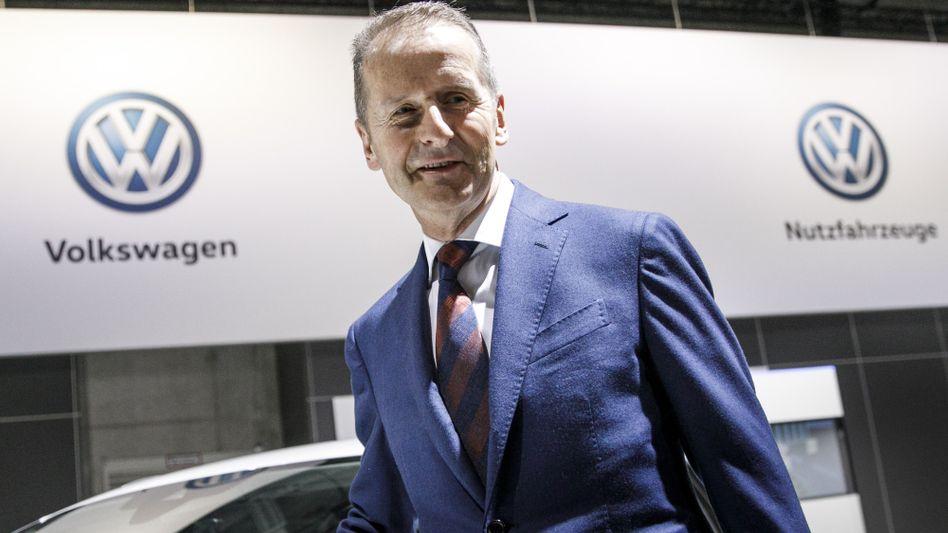 Herbert Diess, auf der Hauptversammlung von VW in Berlin
