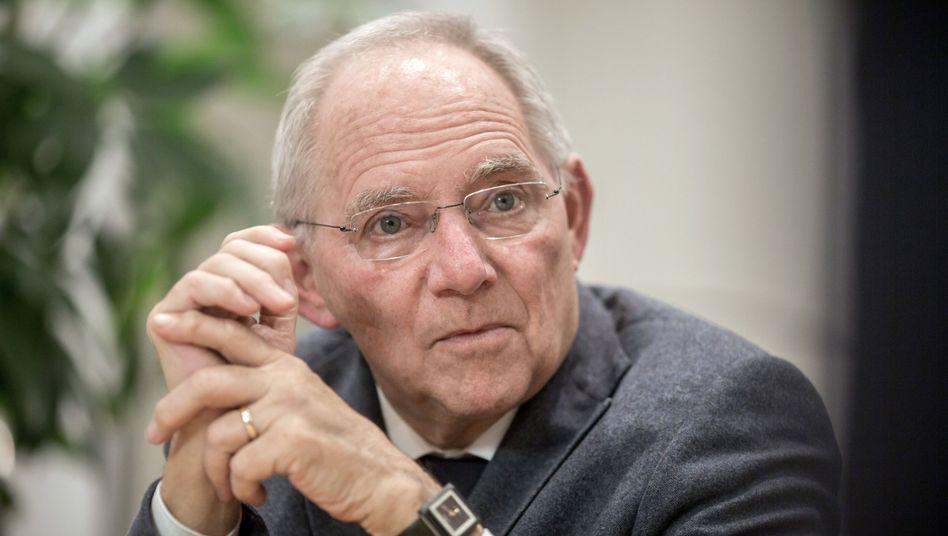 """Bundesfinanzminister Wolfgang Schäuble: """"Weltwirtschaft ist nicht im Krisenmodus"""""""