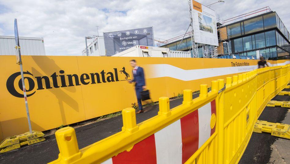 Baustelle der neuen Continental-Konzernzentrale in Hannover