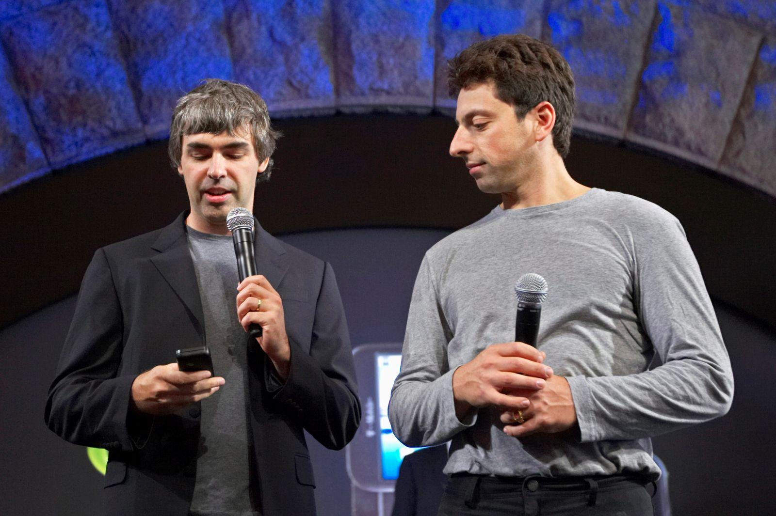 EINMALIGE VERWENDUNG Larry Page / Sergey Brin